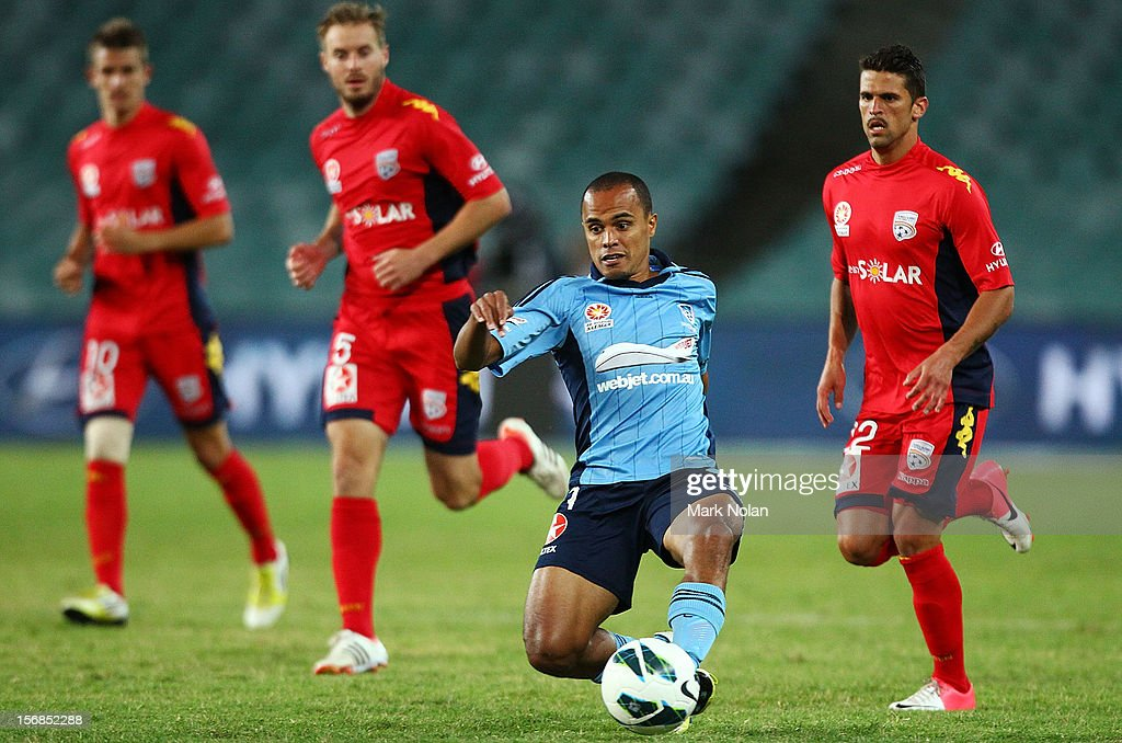 Fabio of Sydney FC in action during the round eight A-League match between Sydney FC and Adelaide United at Allianz Stadium on November 23, 2012 in Sydney, Australia.