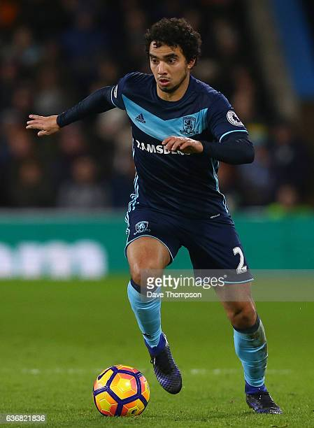 Fabio Pereira da Silva of Middlesbrough during the Premier League match between Burnley and Middlesbrough at Turf Moor on December 26 2016 in Burnley...