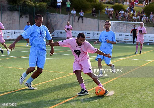 Fabio Quagliarella in action during the Porto Cervo Summer 2015 Fiveaside Football Tournament Day One on June 27 2015 in Porto Cervo Italy