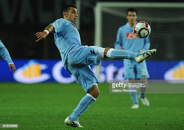 Fabio Quagliarella of SSC Napoli in action during the Serie A match between Juventus FC and SSC Napoli at Olimpico Stadium on October 31 2009 in...