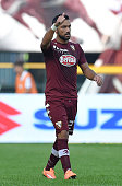 Fabio Quagliarella of Torino FC celebrates after scoring the opening goal during the Serie A match between Torino FC and Udinese Calcio at Stadio...