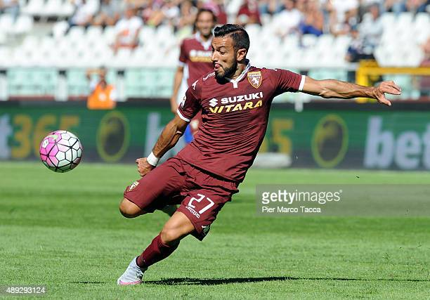 Fabio Quagliarella of Torino FC in action during the Serie A match between Torino FC and UC Sampdoria at Stadio Olimpico di Torino on September 20...