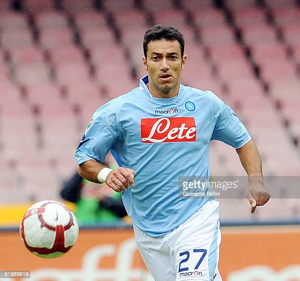 Fabio Quagliarella SSC Napoli during the serie A match between SSC Napoli and Bologna FC at Stadio San Paolo on October 18 2009 in Naples Italy