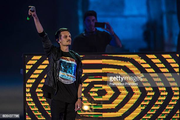 Fabio Rovazzi at Festival Show 2016 in Arena on September 13 2016 in Verona Italy