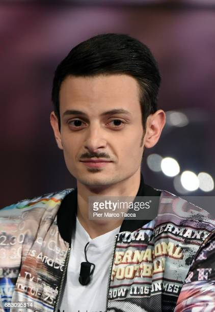 Fabio Rovazzi attends 'Che Tempo Che Fa' tv show at Rai Milan Studios on May 14 2017 in Milan Italy