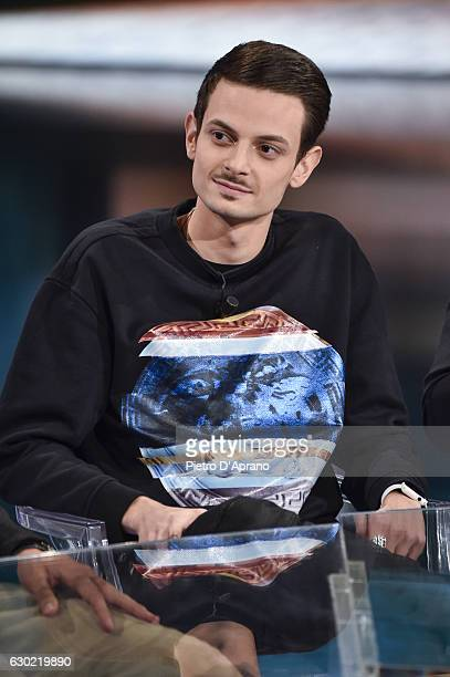 Fabio Rovazzi attends 'Che Tempo Che Fa' tv show on December 18 2016 in Milan Italy