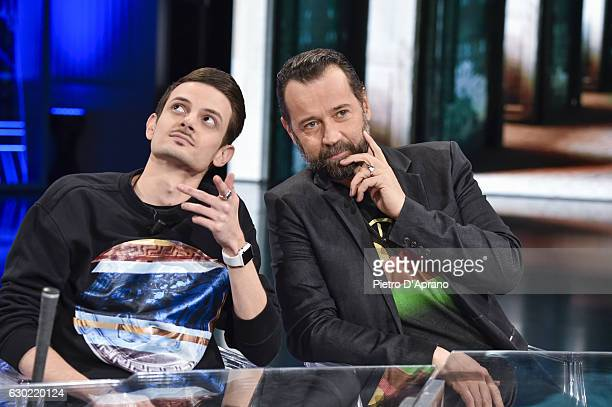 Fabio Rovazzi Fabio Volo attends 'Che Tempo Che Fa' tv show on December 18 2016 in Milan Italy