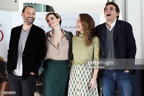 Fabio VoloCamilla Filippi Isabella Ragonese and Massimo Venier attend the 'Il Giorno in Piu' photocall at Cinema Adriano on November 28 2011 in Rome...