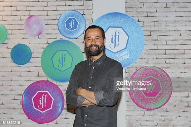 Fabio Voloi poses at the IF Italians Festival 2016 at Franco Parenti Theater on October 8 2016 in Milan Italy