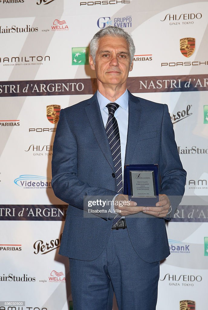 Fabio Zamarion attends Nastri D'Argento 2016 Award Nominations at Maxxi on May 31, 2016 in Rome, Italy.