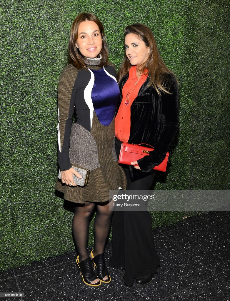 Fabiola Beracasa (L) and Laure Heriard-Dubreuilarrives as Ralph Lauren Presents Exclusive Screening Of Hitchcock's To Catch A Thief Celebrating The Princess Grace Foundation at MoMA on October 28, 2013 in New York City.