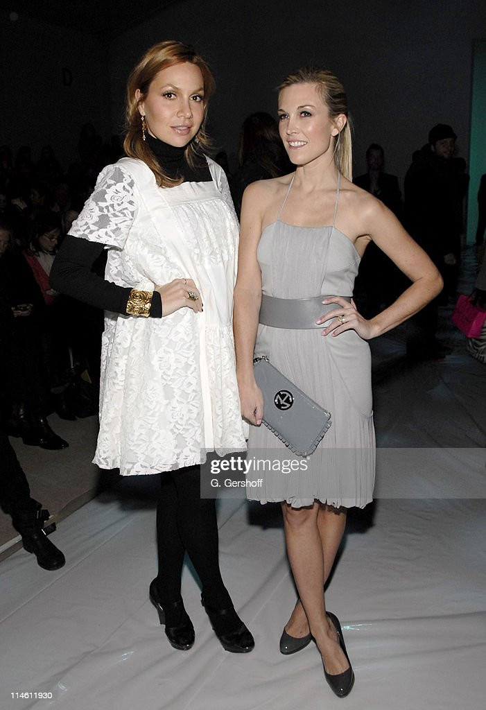 Fabiola Beracasa and Tinsley Mortimer during MercedesBenz Fashion Week Fall 2007 DOORI Front Row and Backstage at The Promenade Bryant Park in New...