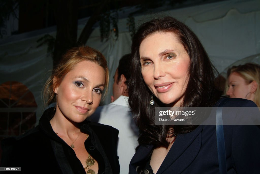 Fabiola Beracasa and Veronica Hearst during Olympus Fashion Week Spring 2006 Diane Von Furstenberg Front Row and Backstage at 389 West 12th Street in...