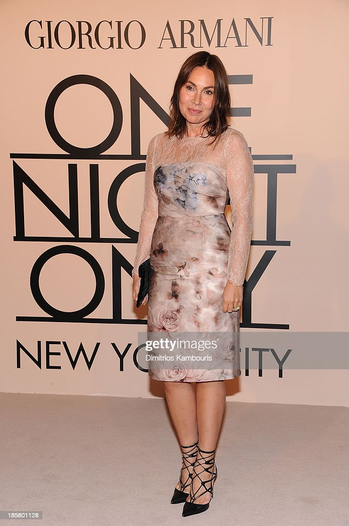 Fabiola Beracasa attends Giorgio Armani One Night Only NYC at SuperPier on October 24, 2013 in New York City.