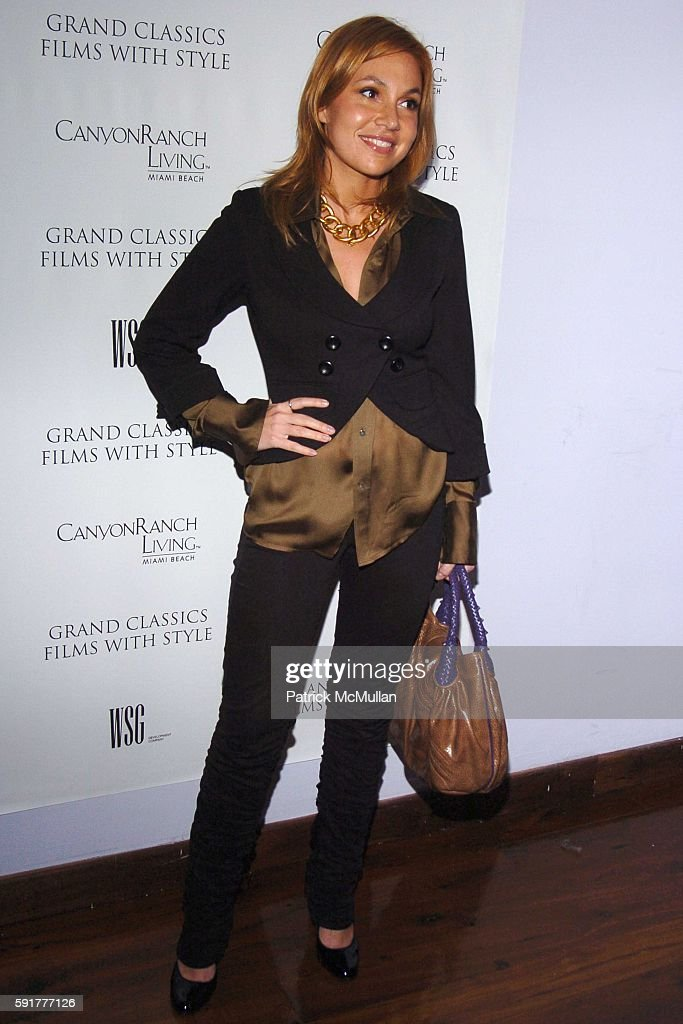 Fabiola Beracasa attends Grand Classics Films With Style hosted by Carolina Herrera and sponsored by WSG/Canyon Ranch Living and Harry Winston at...