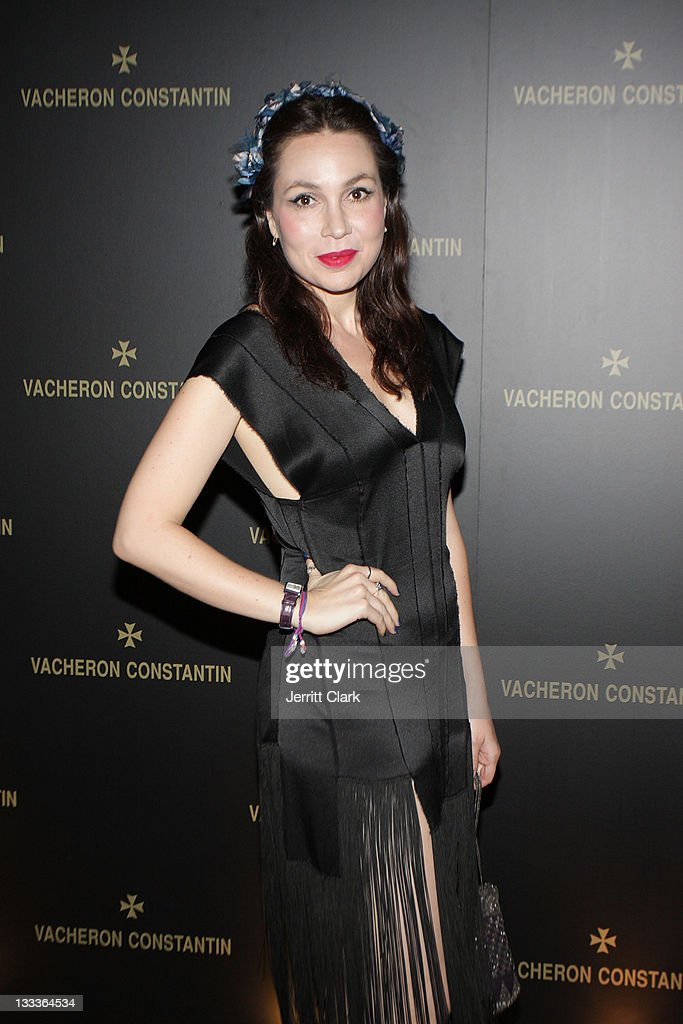 Fabiola Beracasa attends the launch of the Vacheron Constantin Le Masques watch collection at The Metropolitan Museum of Art on June 2 2009 in New...