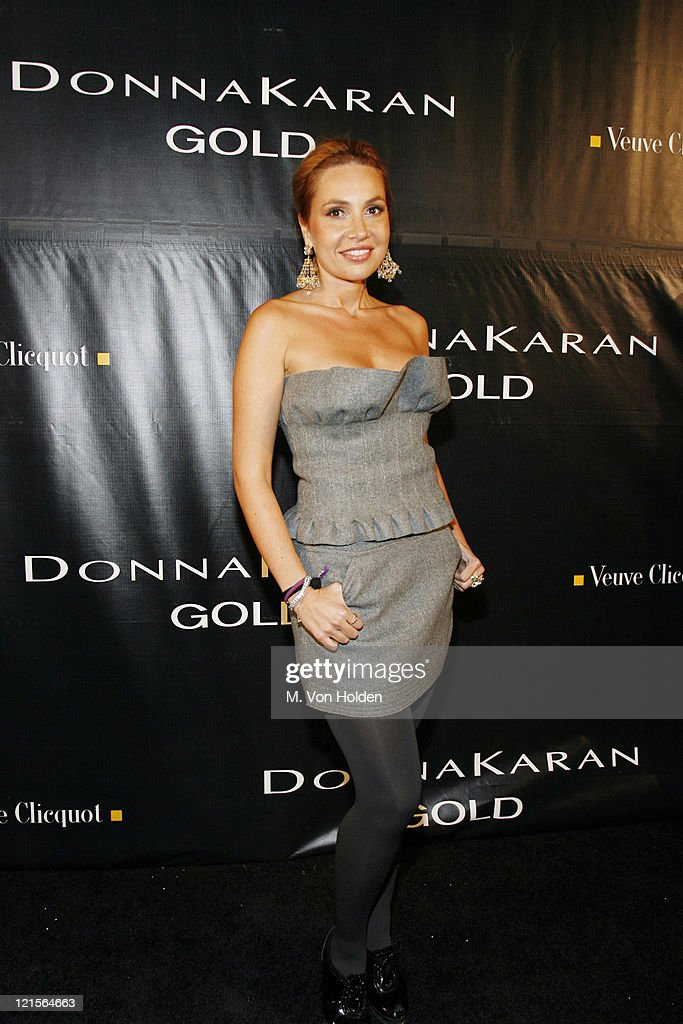 Fabiola Beracasa during Donna Karan 'Gold' Fragrance Collection Launch Party at Donna Karan Flagship in New York City New York United States