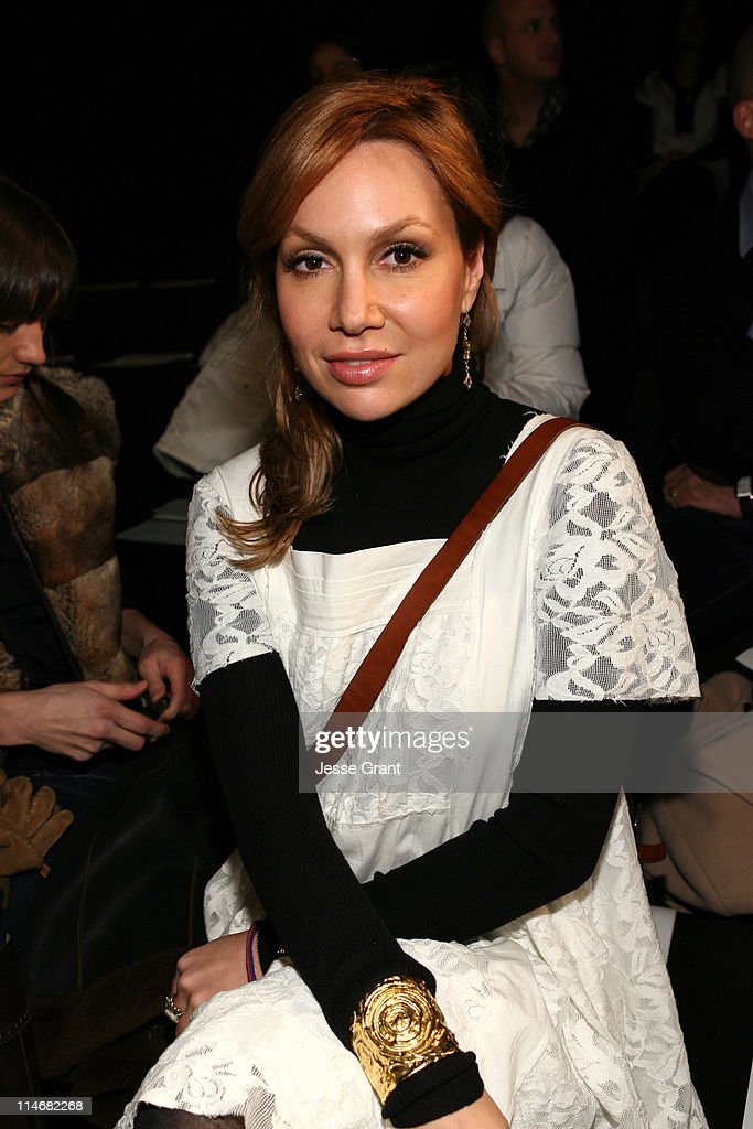 Fabiola Beracasa during MercedesBenz Fashion Week Fall 2007 Behnaz Sarafpour Front Row and Backstage at Eyebeam in New York City New York United...