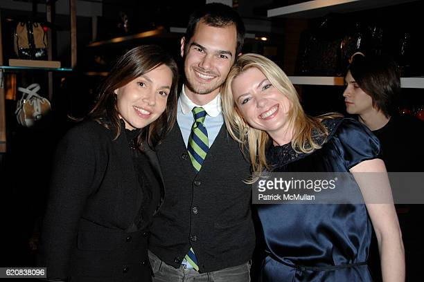 Fabiola Beracasa Lyle Maltz and Amy McFarland attend BALLY Cocktail Party Honoring BRIAN ATWOOD New Yorkers For Children at BALLY on March 6 2008 in...