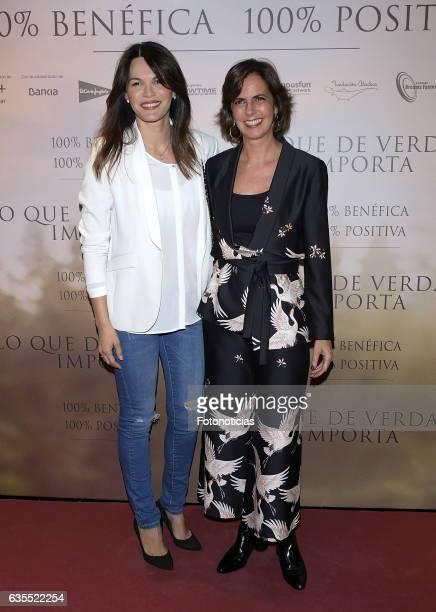 Fabiola Martinez and Maria Franco attend the 'Lo Que De Verdad Importa' premiere at the Hotel Vincci Capitol on February 15 2017 in Madrid Spain
