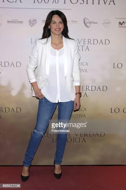 Fabiola Martinez attends the 'Lo Que De Verdad Importa' premiere at the Hotel Vincci Capitol on February 15 2017 in Madrid Spain