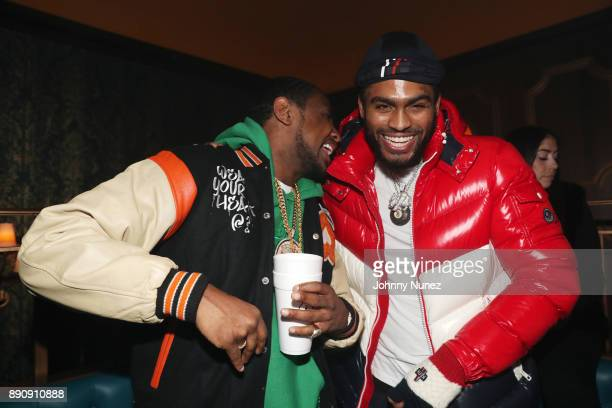 Fabolous and Dave East attend the Jeezy 'Pressure' Album Listening Party at Avenue on December 11 2017 in New York City