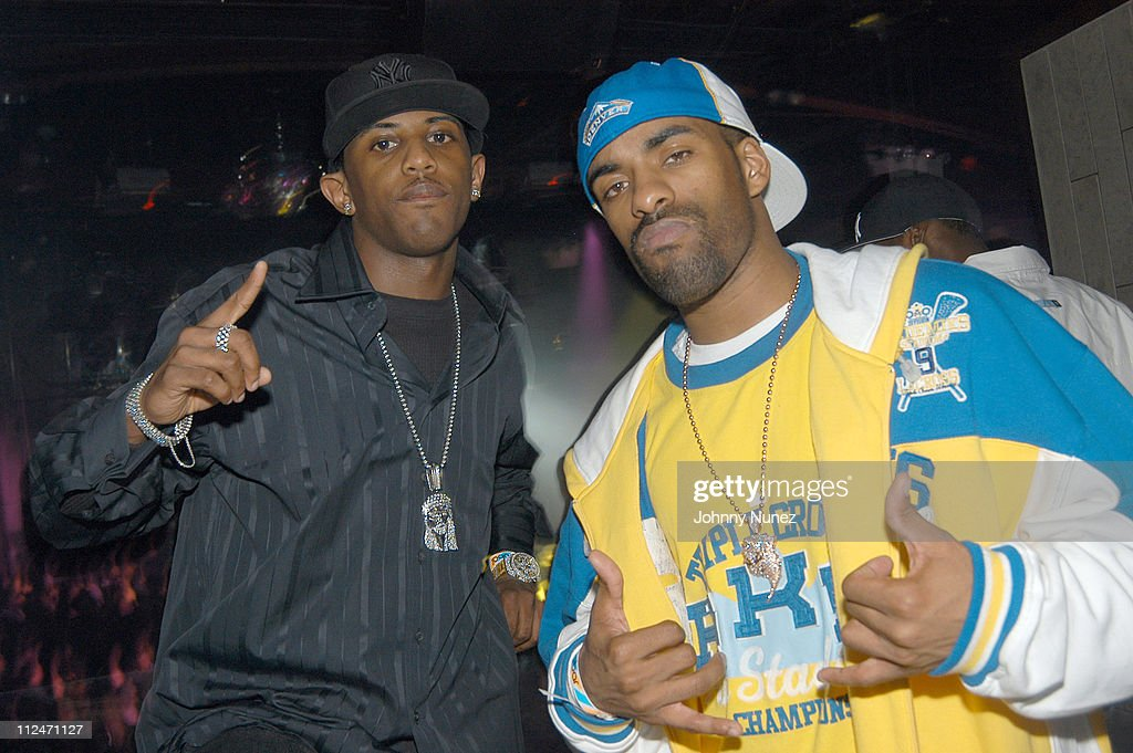 Fabolous and DJ Clue during Celebrity Sightings at Crobar Nightclub in New York April 8 2004 at Crobar in New York City New York United States