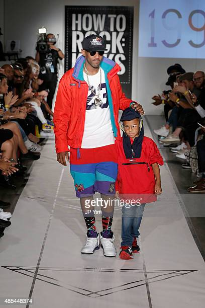 Fabolous and Johan Jackson walk the runway during BET Digital Presents How To Rock Kicks at Milk Studios on August 27 2015 in New York City
