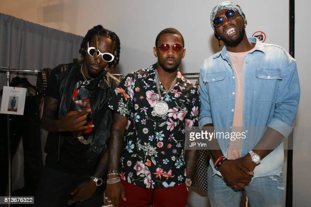 JAZZ2KOOL FAbolous and NBA player Kenneth Faried backstage at Ovadia Sons Spring 2018 Collection at Skylight Clarkson Sq on July 12 2017 in New York...