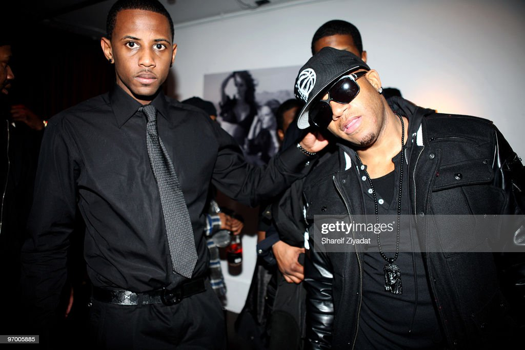 Fabolous and Red Cafe attend Juelz Santana's birthday party at M2 Ultra Lounge on February 22 2010 in New York City