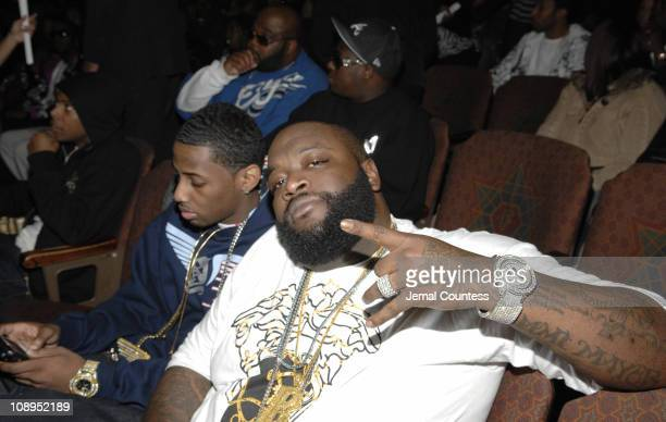 Fabolous and Rick Ross during 2006 BET HipHop Awards Audience and Backstage at Fox Theatre in Atlanta Georgia United States