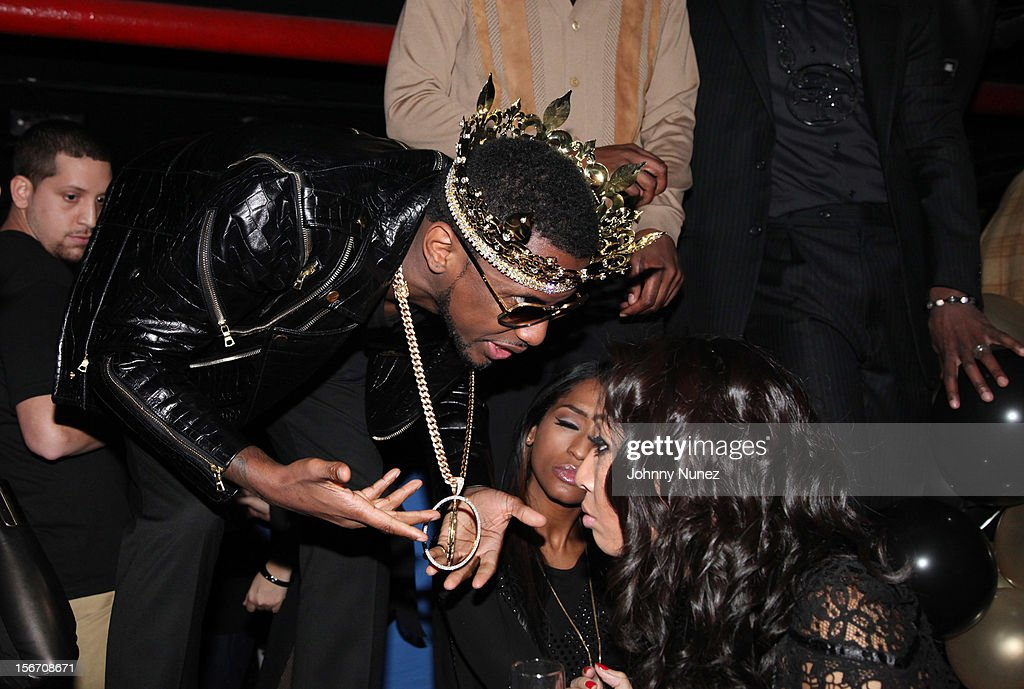 Fabolous (L) celebrates his birthday at WIP on November 18, 2012 in New York City.