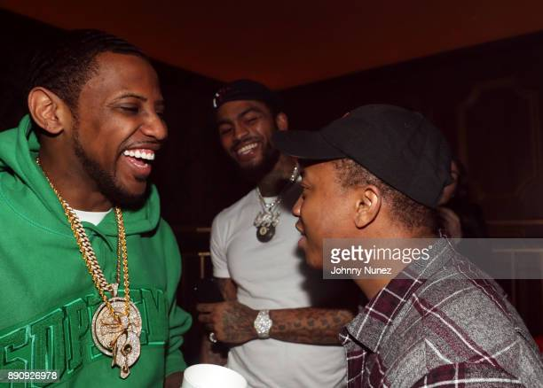 Fabolous Dave East and Shiggy Show attend the Jeezy 'Pressure' Album Listening Party at Avenue on December 11 2017 in New York City