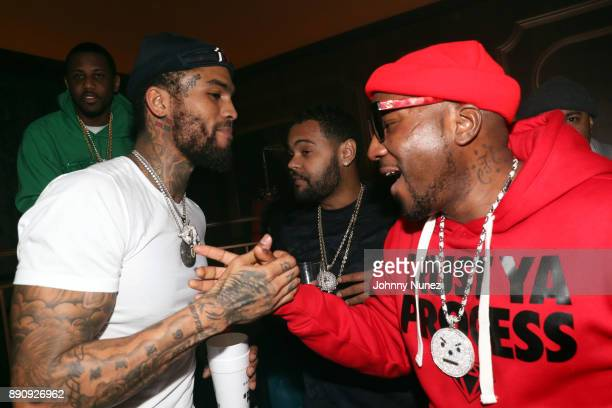Fabolous Dave East Boo Rossini and Jeezy attend the Jeezy 'Pressure' Album Listening Party at Avenue on December 11 2017 in New York City