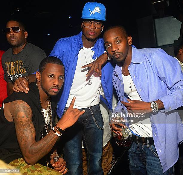 Fabolous Neyo and Ruggs attend a party hosted by Fabolous at Reign Nightclub at Reign Nightclub on July 27 2012 in Atlanta Georgia