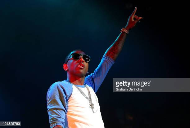 Fabolous performs on stage during the Winterbeatz Music Festival on August 18 2011 in Melbourne Australia