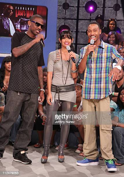 Fabolous Rocsi and Terrence J visit BET's '106 Park' at BET Studios on July 27 2009 in New York City