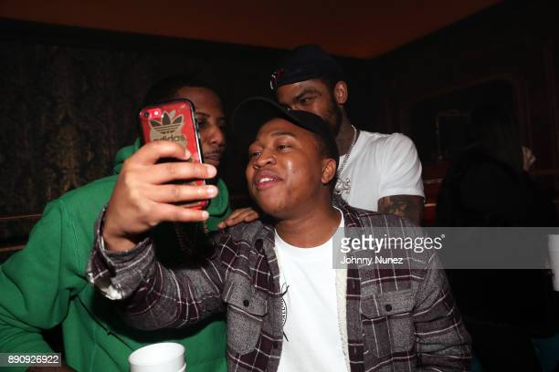 Fabolous Shiggy Show and Dave East attend the Jeezy 'Pressure' Album Listening Party at Avenue on December 11 2017 in New York City