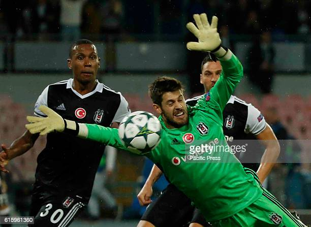 Fabri during the Champions League Group soccer match between SSC Napoli and Bsiktas at the San Paolo Stadium Besiktas win over SSC Napoli with the...