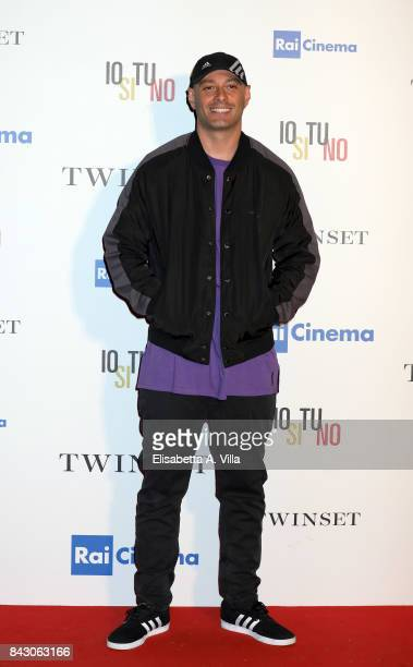 Fabri Fibra attends the Twinset Party during the 74th Venice Film Festival at Excelsior Hotel on September 5 2017 in Venice Italy