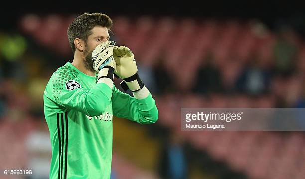 Fabri of Besiktas during the UEFA Champions League match between SSC Napoli and Besiktas JK at Stadio San Paolo on October 19 2016 in Naples