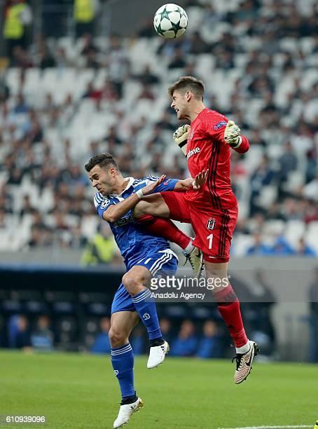 Fabri of Besiktas in action against Junior Moraes of Dinamo Kiev during the UEFA Champions League football match between Besiktas and Dinamo Kiev at...
