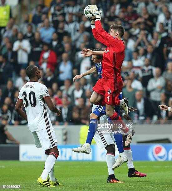 Fabri of Besiktas in action against Vitaliy Buyalskiy of Dinamo Kiev during the UEFA Champions League football match between Besiktas and Dinamo Kiev...