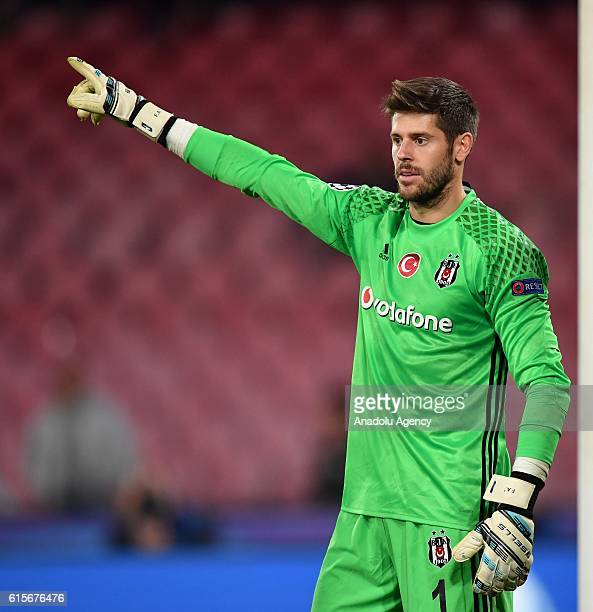 Fabri of Besiktas is seen during the UEFA Champions League group B soccer match between Napoli and Besiktas at the San Paolo stadium in Naples Italy...