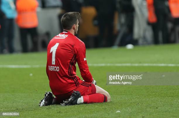 Fabri of Besiktas reacts after the Turkish Spor Toto Super Lig soccer match between Besiktas and Fenerbahce at Vodafone Arena in Istanbul Turkey on...