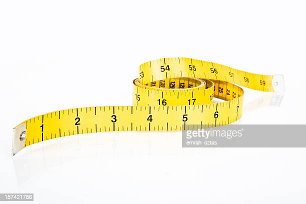 Fabric measuring tape in yellow