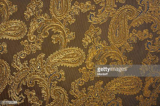 Fabric texture with indian ornaments