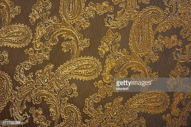 Tissu texture avec ornements indien