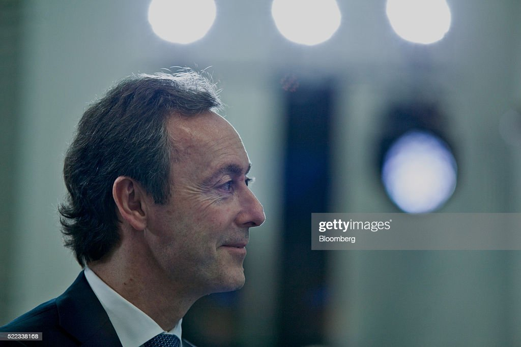 Fabrice Bregier, chief executive officer of Airbus Group SE, smiles after speaking at the opening of the Airbus Asia Training Centre (AATC), a joint venture 55% owned by Airbus and 45% owned by Singapore Airlines Ltd., at the Seletar Aerospace Park in Singapore, on Monday, April 18, 2016. Airbus is setting up its second academy to train pilots in Asia, where a rash of startup airlines and new aircraft coming in is causing a surge in demand for captains and first officers. Photographer: Sam Kang Li/Bloomberg via Getty Images