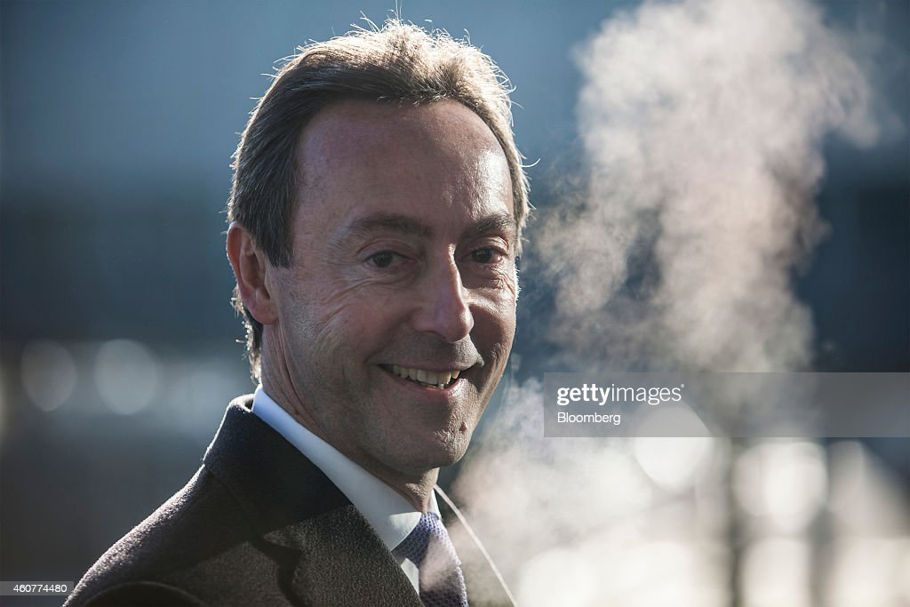 <a gi-track='captionPersonalityLinkClicked' href=/galleries/search?phrase=Fabrice+Bregier&family=editorial&specificpeople=2129650 ng-click='$event.stopPropagation()'>Fabrice Bregier</a>, chief executive officer of Airbus, reacts during a delivery ceremony for Qatar Airways Ltd.'s first Airbus A350 passenger aircraft, at the Airbus Group NV factory in Toulouse, France, on Monday, Dec. 22, 2014. Airbus indicated it will bring forward deliveries of its newest A350 model to first customer Qatar Airways while playing down prospects for an early commitment to upgrading its flagship A380 superjumbo. Photographer: Balint Porneczi/Bloomberg via Getty Images